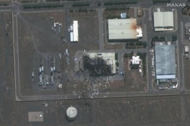 A satellite photo in July 2020 shows the damaged building at Natanz.