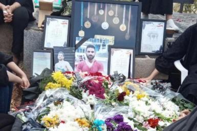 Navid Afkari's grave site. FILE PHOTO