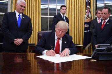 دونالد ترامپ رییس جمهوری ایالات متحده آمریکا