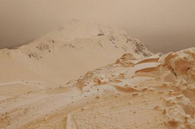 بارش «برف نارنجیرنگ» در اروپا