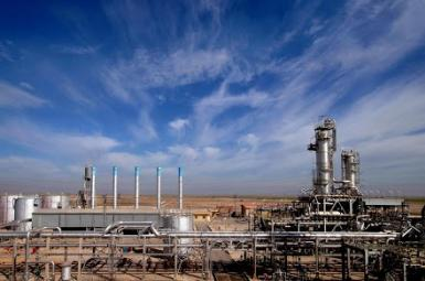 An oil installation in Iran's Khuzestan province. File photo