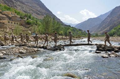 Resistance fighters in Panjshir valley. Photo by Fararu website. August 2021