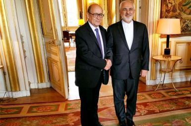 دیدار ژان-ایو لو دریان، وزیرخارجه فرانسه، با محمدجواد ظریف در سفر به تهران