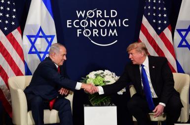 دونالد ترامپ، رییس جمهوری آمریکا و بنیامین نتانیاهو، نخستوزیر اسراییل
