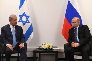 دیدار بنیامین نتانیاهو نخستوزیر اسرائیل با ولادیمیر پوتین رئیسجمهوری روسیه