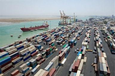 An Iranian port an customs area near the Persian Gulf. FILE