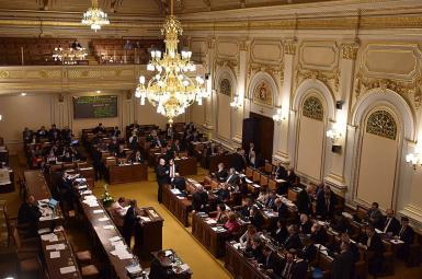 تصویر آرشیوی از پارلمان جمهوری چک