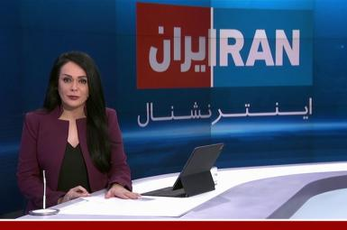 Iran International anchor in London delivering news and information to audiences in Iran. File