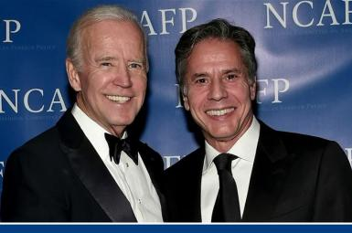 Joe Biden and his long -time security and foreign policy aide Antony Blinken. FILE