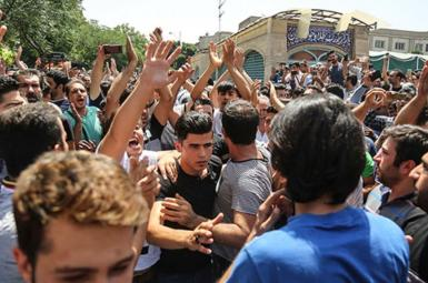 Protests against rising prices in Tehran, August 2018.