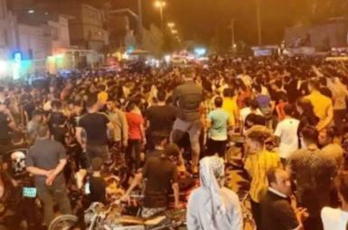 Protests continued in Khuzestan for sixth consecutive night. July 20, 2021