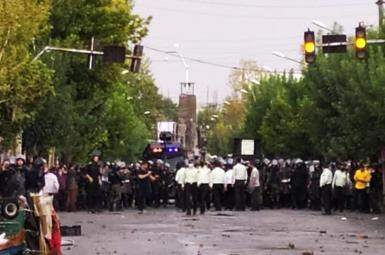 Protest in Naghadeh, Western Iran. August 7, 2021