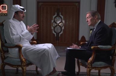 گفتوگوی تلویزیونی امیر قطر با چارلی رُز در شبکهی تلویزیونی سیبیاس