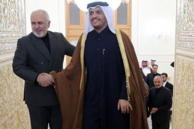 Iran foreign minister Mohammad Javad Zarif received Qatar's Foreign Minister Sheikh Mohammed bin Abdulrahman Al Thani. July 25, 2021