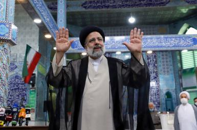 Ebrahim Raisi at the polling station to vote. June 18, 2021