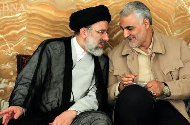 Ebrahim Raisi and Qasem Soleimani in Mashhad, August 2016.