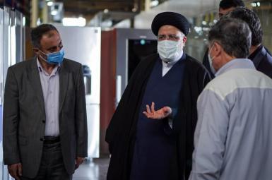 Islamic Republic's president Ebrahim Raisi with aides. FILE