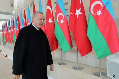Turkish President Erdogan in Baku. December 10, 2020