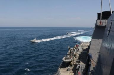 Naval Ships in waters around the Persian Gulf. FILE