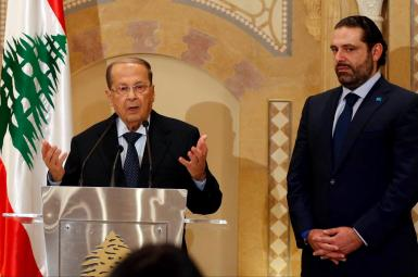 میشل عون و سعد حریری