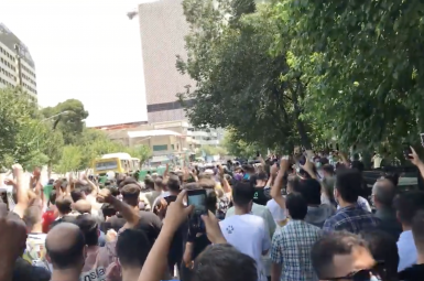 A sudden and large anti-regime protest erupted in Tehran. July 26, 2021