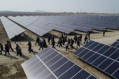 افتتاح نیروگاه خورشیدی ۱۰ مگاواتی در جزیره قشم - اسفند ۹۶