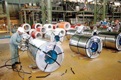 Iranian steel sheet plant. FILE  PHOTO