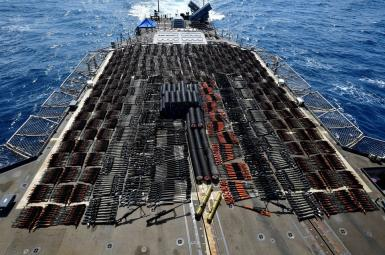 A large shipment of small and medium arms was seized by the US Navy in the Arabian Sea. May 8, 2021
