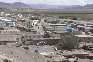 Town of Morghab near a hidden Chinese military base in Tajikistan. September 18, 2020