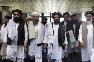 A group of Taliban leaders. FILE PHOT