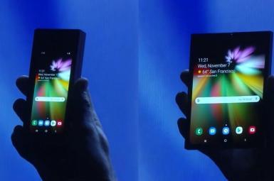 سامسونگ از اولین تلفن تاشو خود رونمایی کرد