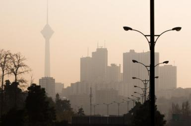 Iran's capital Tehran blanketed in smog. Undated