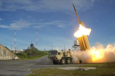 US THAAD missile defense system during a test. FILE PHOTO