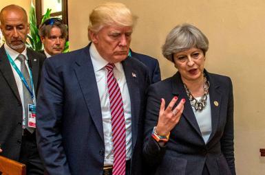 دونالد ترامپ، رییس جمهوری آمریکا و ترزا می، نخستوزیر بریتانیا