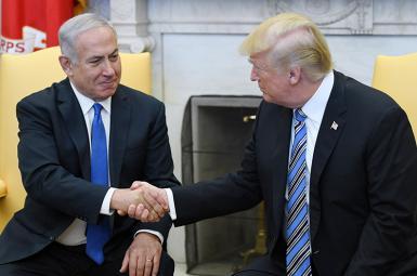 دونالد ترامپ، رئیس جمهوری ایالات متحده آمریکا،  نتانیاهو، نخستوزیر اسرائیل