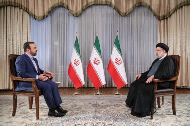 Iranian president Ebrahim Raisi's first TV interview. Sept. 4, 2021