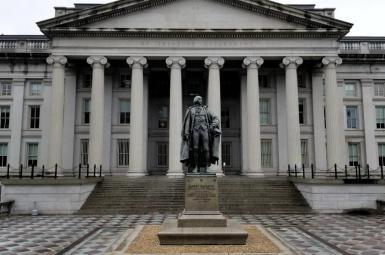 US Treasury Department in Washington DC. FILE PHOTO
