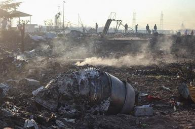 The aftermath of the downing of a Ukrainian airliner by Iran. January 8, 2020