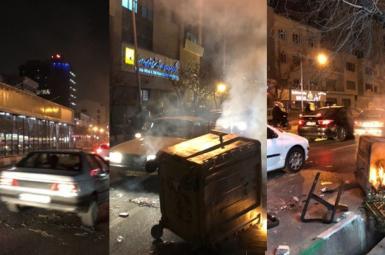 آتشزدن ساختمانهای دولتی در روز سوم تظاهرات در ایران