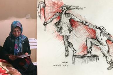 جدیدترین تصویر زهرا رهنورد و طرح منتشرشده از او در مخالفت با حجاب اجباری