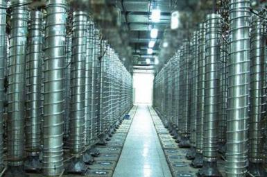 Cascades of uranium enrichment centrifuges at an Iranian nuclear facility. FILE