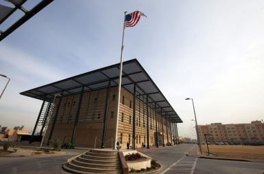 The US Embassy in Baghdad, Iraq. File photo