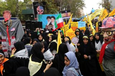 Government-organized rallies to mark anniversary of the 1979 seizure of US Embassy in Tehran. November 4, 2019