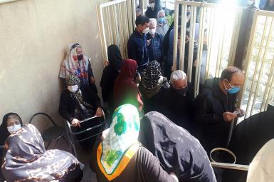 Covid vaccination of elders in Iran. FILE