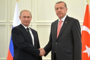 رجب طیب اردوغان، رئیسجمهور ترکیه، و ولادیمیر پوتین، رئیسجمهور روسیه