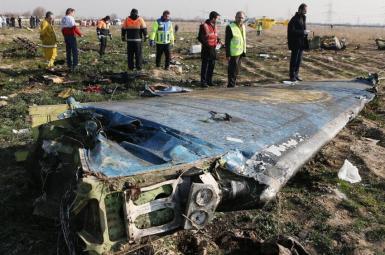 Wreckage of Ukrainian flight PS-752 near Tehran. January 8, 2020