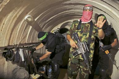 یکی از تونلهای گروه فلسطینی حماس