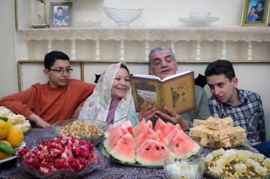 A Yalda night family gathering when poetry is read. FILE