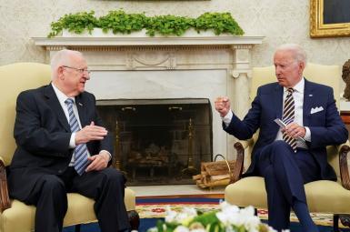 President Joe Biden meeting with Israeli President Reuven Rivlin in the oval office. June 28, 2021
