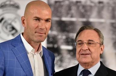 حضور پرز در رختکن رئال مادرید برای حمایت از زیدان